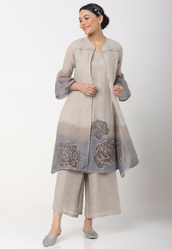 DAMASK ROSE SANA JACKET + DRESS + PANTS PEARL-Jacket-KAVERi