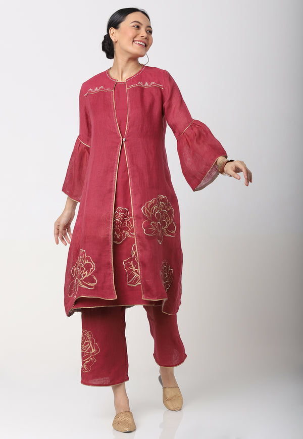 DAMASK ROSE SANA JACKET + DRESS + PANTS RUBY-Jacket-KAVERi