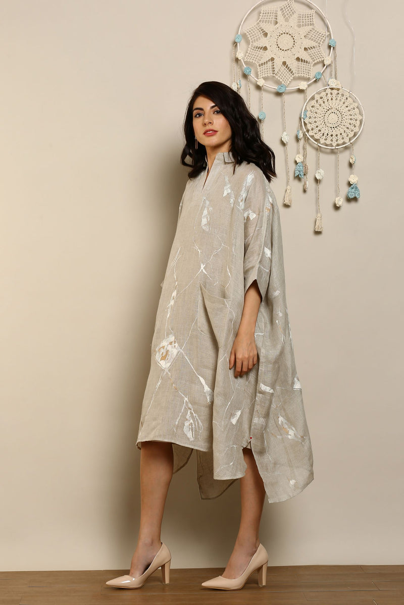 Shake The World Square Natural Dress-Dresses-KAVERi