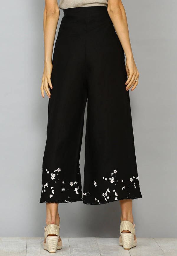 Baby's Breath Salsa Pant Black-Pants-KAVERi