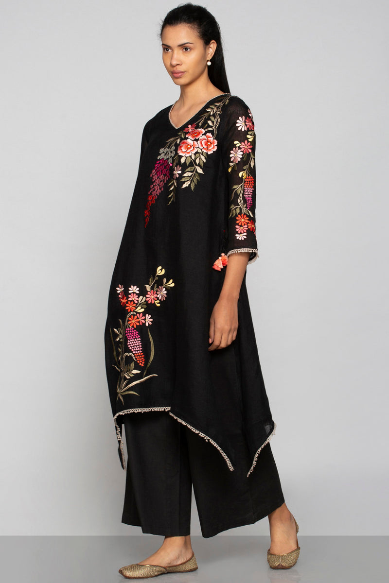 Secret Garden Fly Free Tunic Black-Tunics-KAVERi