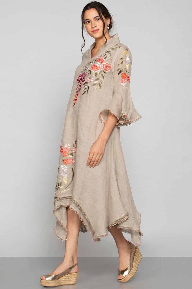 Secret Garden Twirl Dress Natural-Dresses-KAVERi