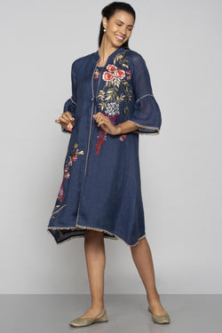 Secret Garden Rizo Jacket and Solane Navy-Jackets-KAVERi