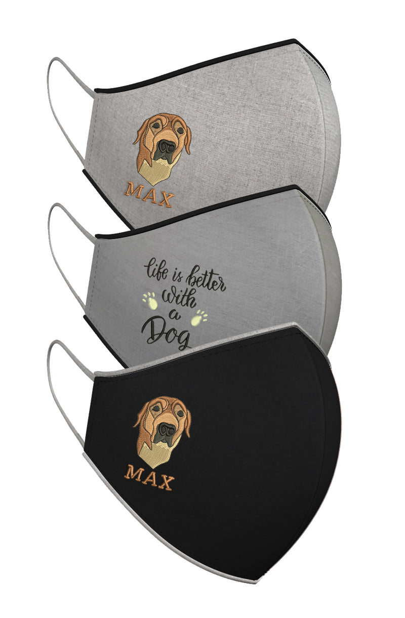 LIVE LOVE WOOF | Set of 3-Masks-KAVERi