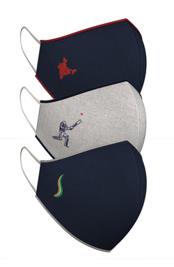 INDIA. CRICKET. TRICOLOUR | Set of 3-Masks-KAVERi