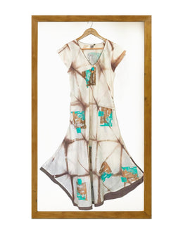 Shibori Cario Dress Off-White-Dress-KAVERi