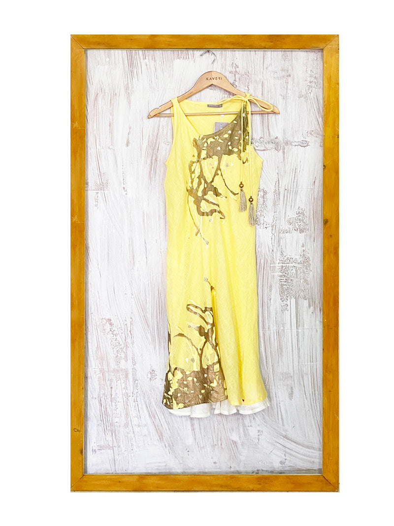 Splash Dress- Yellow-Dress-KAVERi