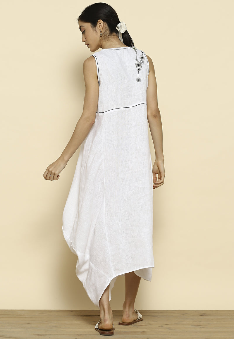 Summer Angels Galaxy White Dress-Dresses-KAVERi