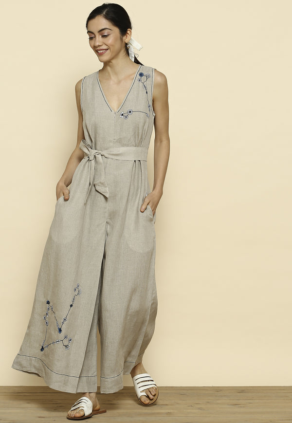 Summer Angels Starry Natural Jumpsuit-Jumpsuits-KAVERi