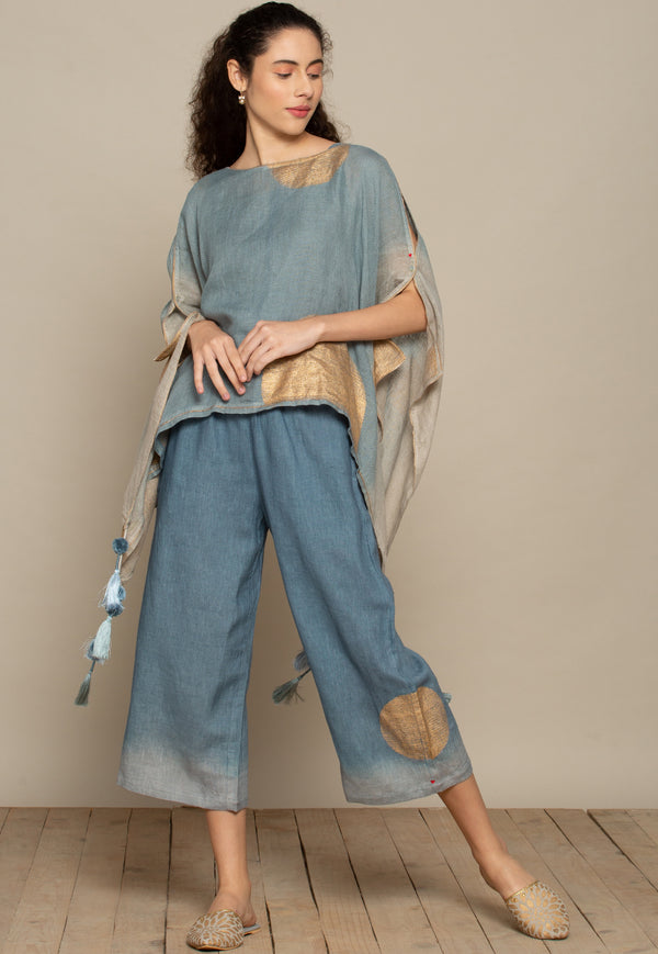 The Golden dot natural sky pants-Pants-KAVERi