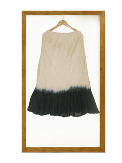 Tie and Dye Skirt- Natural-Black-Skirt-KAVERi