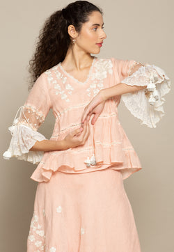 Victoria Basquine Dusty Rose Top-Tops-KAVERi