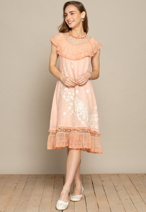 Victoria Evie Dusty Rose Dress-Dresses-KAVERi