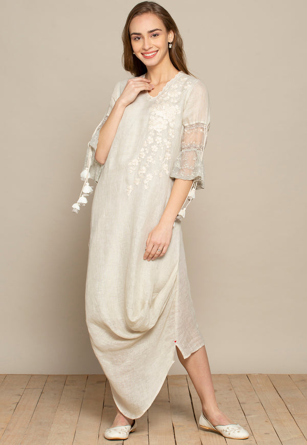 Sacque Oyster Dress-Dresses-KAVERi