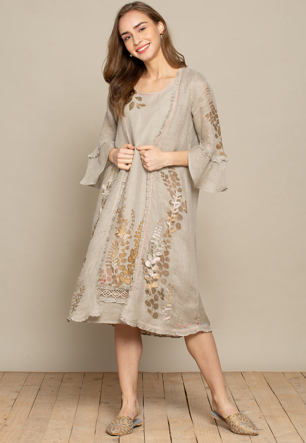 Kate & Sloane Natural Jacket and Dress-Dresses-KAVERi