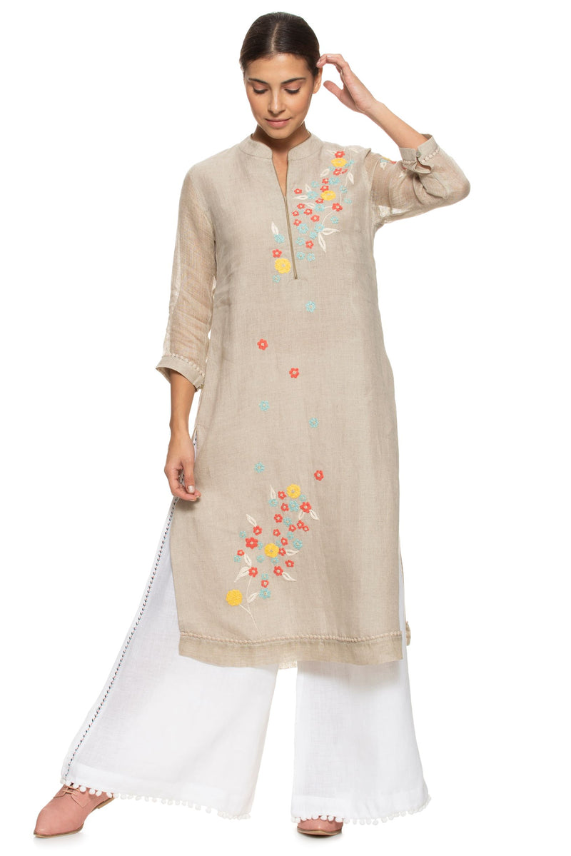 Wildflower Classic Natural Tunic-Tunic-KAVERi