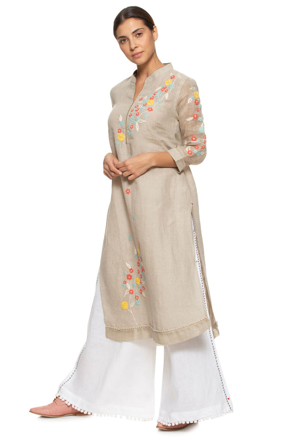 Wild Flower Classic Natural Tunic-Tunic-KAVERi