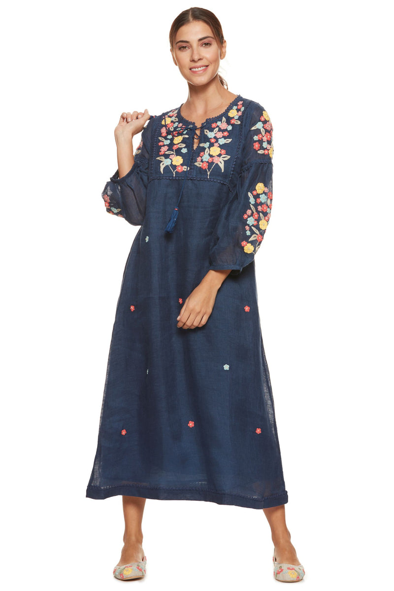 Wildflower Betty Mex Pex Navy Dress-Dresses-KAVERi