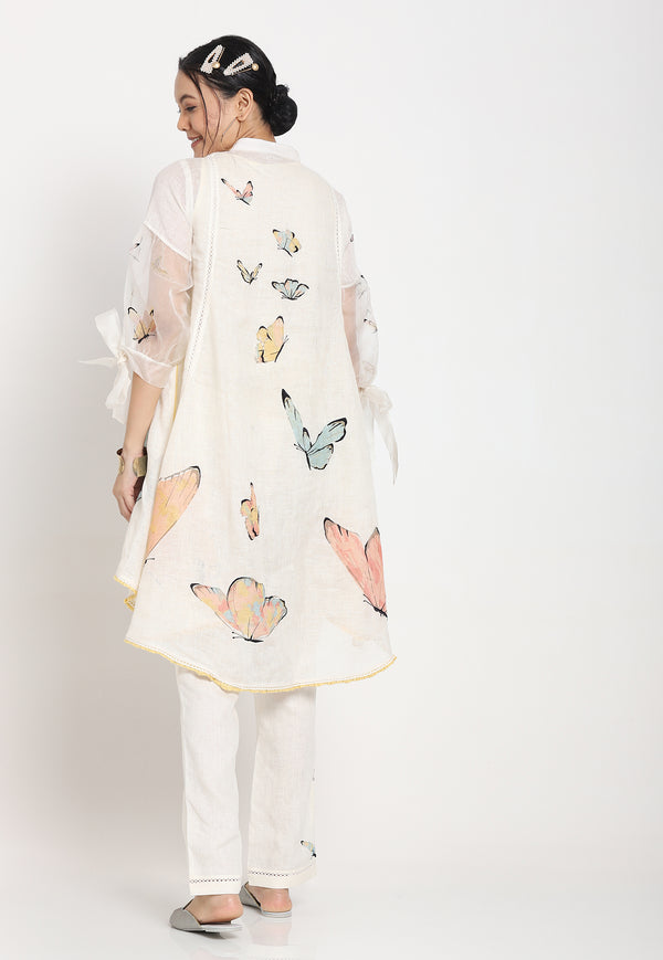 BUTTERFLY GARDEN ZERENE ICE CREAM CONE TOP OFF WHITE-Top-KAVERi