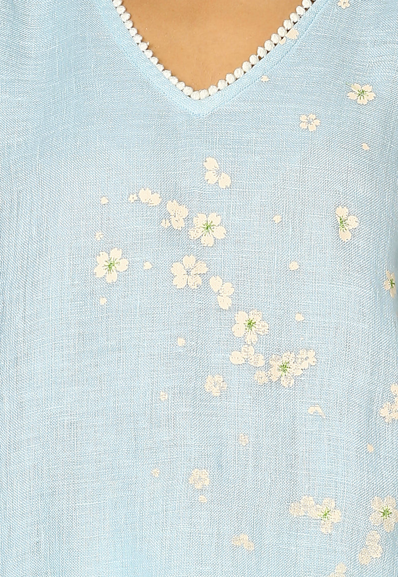 Baby's Breath Fly Free Tunic Powder Blue-Tunics-KAVERi
