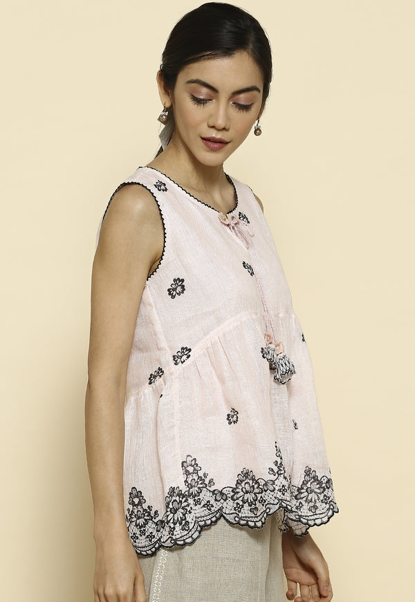 Geno Powder Pink Top-Tops-KAVERi