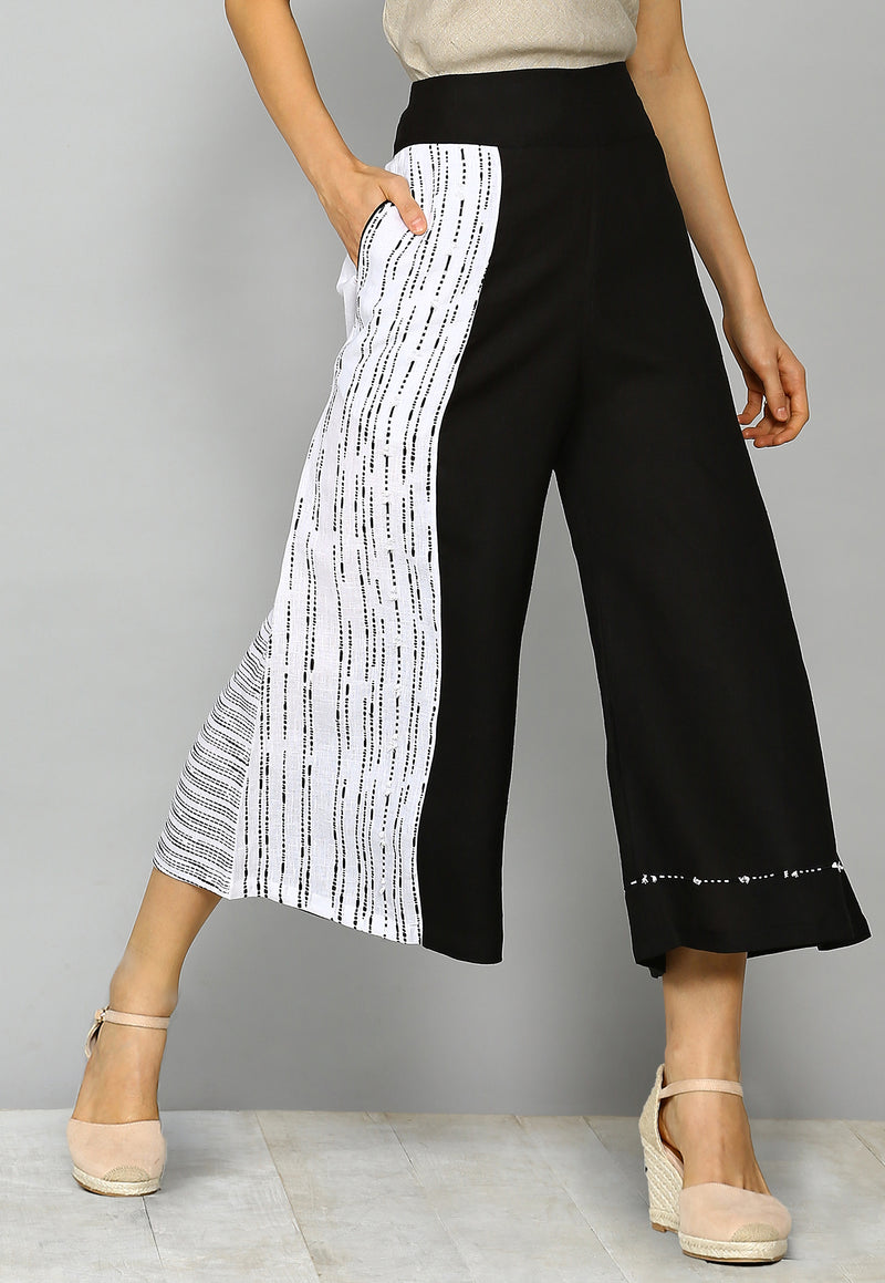 Ravel Kaira White/Black Pant-Pants-KAVERi