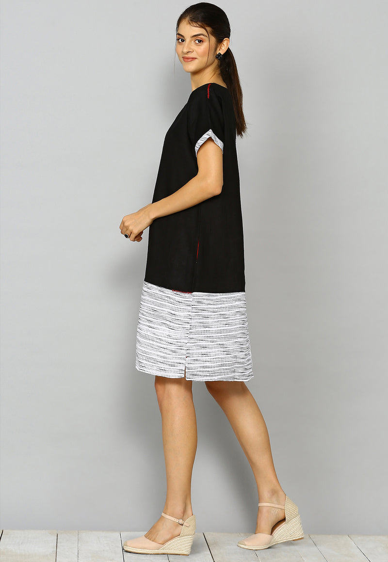 Ravel rei white and black dress-Tops-KAVERi