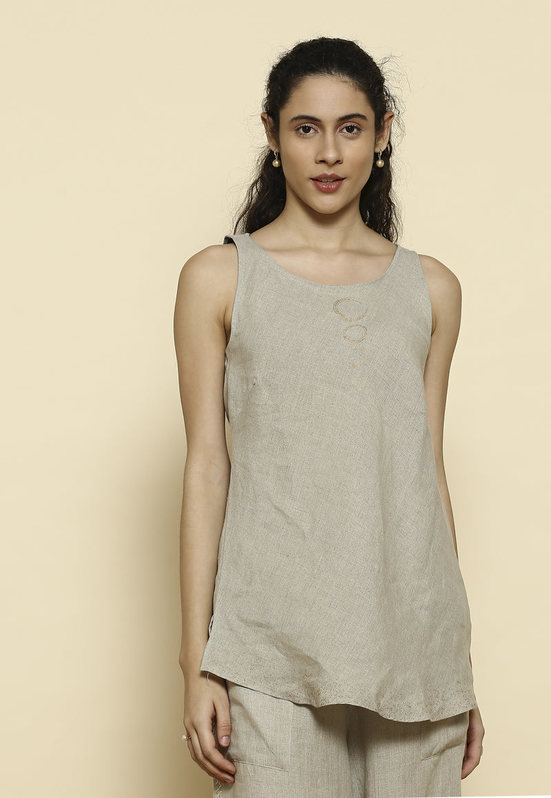 Stargaze B-Shell Natural Top-Tops-KAVERi