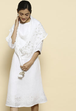Stargaze Portia White Dress-Dresses-KAVERi
