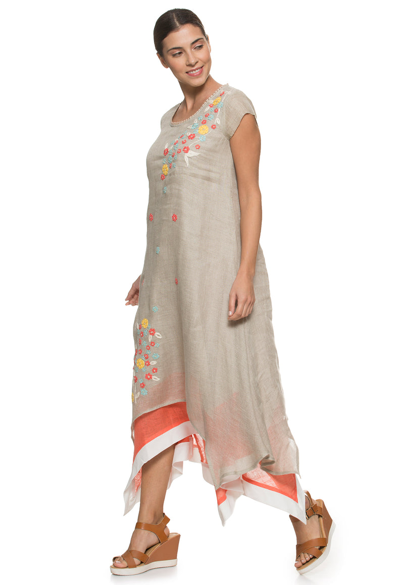 Wildflower Twirl dress natural-Dress-KAVERi