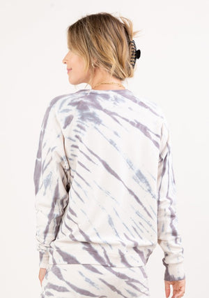 ZEBRA TIE DYE FRENCH TERRY SWEATSHIRT