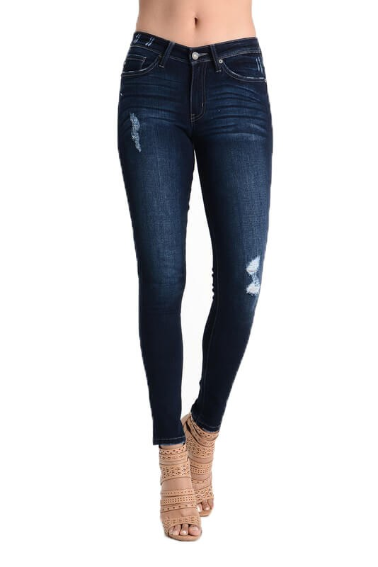 'KAN CAN' MID-RISE DISTRESSED DENIM