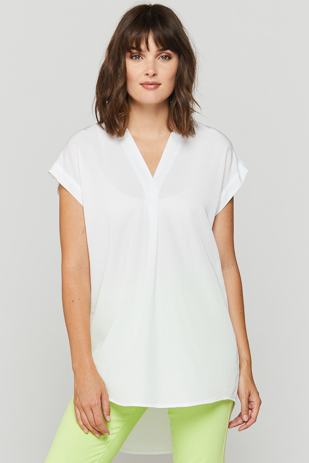 'VELVET HEART' WHITE SPLIT COLLAR TOP