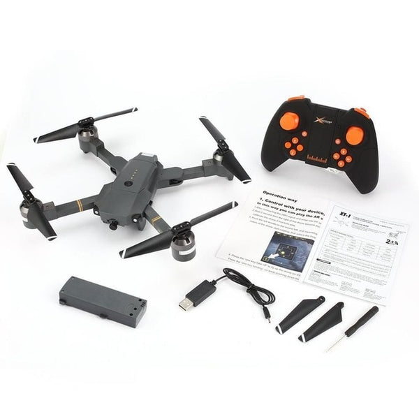 Attop XT-1 2.4GHz 6-axis Gyro Foldable Drone Wi-Fi 2MP HD Camera FPV RC Quadcopter with Headless Mode Altitude Hold 3D Flips