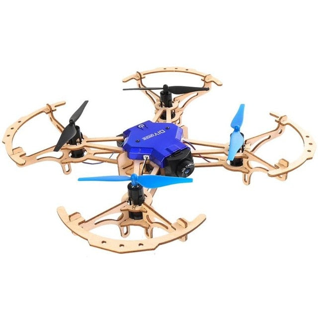 VODOOL ZL100 DIY Mini Racing RC Drone LED 480P 720P 2.4GHz Remote Control Headless Mode Wooden Quadcopter Helicopter