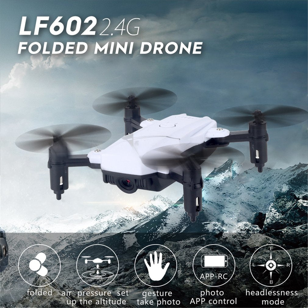 LF602 Mini RC 2.4G Foldable RC Quadcopter Drone Aircraft with Altitude Hold One Key Return Headless Mode 3D Flips Gift