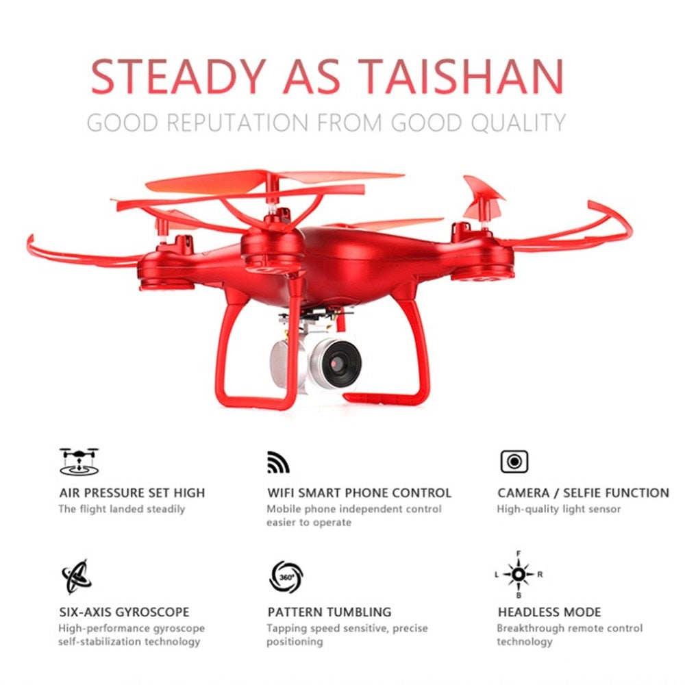 008 Smart Selfie RC Quadcopter Drone with 720P Live Video HD Camera Altitude Hold Headless Mode One Key Take-off RTF