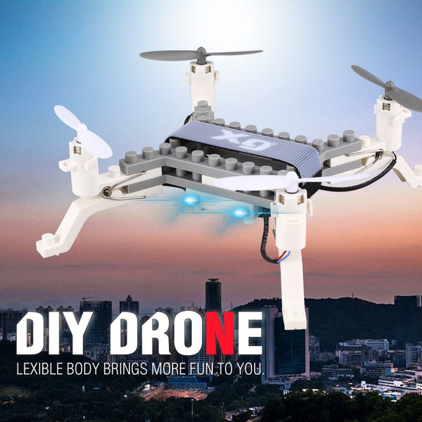 XG171 Smart RC 2.4G RC Building Block 3D Bricks Quadcopter Drone Aircraft with Altitude Hold One Key Return 3D Flips