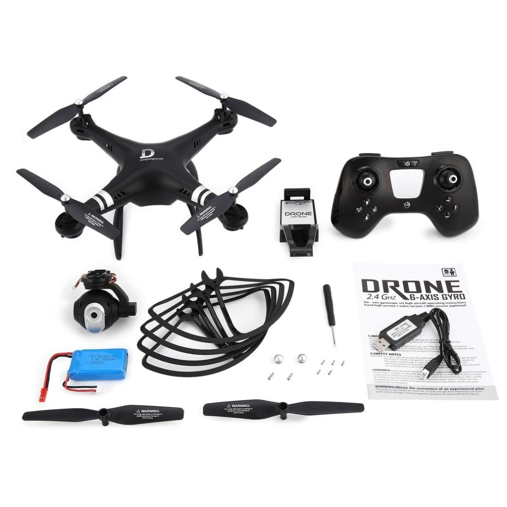 X8 RC Drone 2.4G FPV RC Quadcopter Drone with Adjustable Camera Altitude Hold Headless Mode 3D-Flip 18mins Long Flight