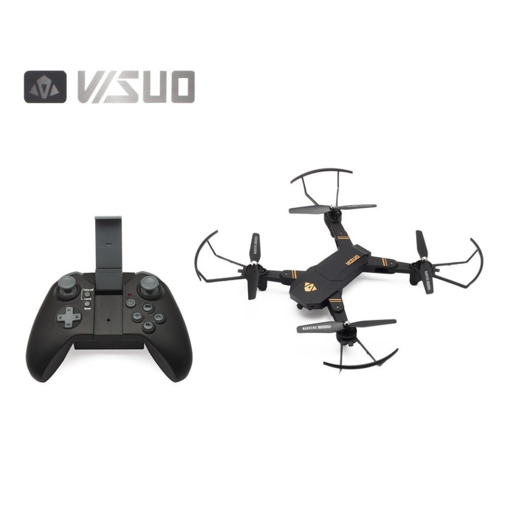 VISUO XS809HW 2.4G Foldable FPV Selfie Drone RC Quadcopter with Wifi/720P Wide Angle Camera Altitude Hold Headless Mode 360 Flip