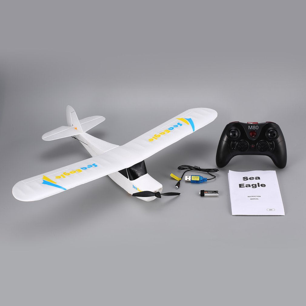 Mirarobot Seaeagle 2.4Ghz 3CH Mini 3/6-Axis Remote Control RC Airplane Fixed Wing Drone Plane with Wingspan 510mm RTF