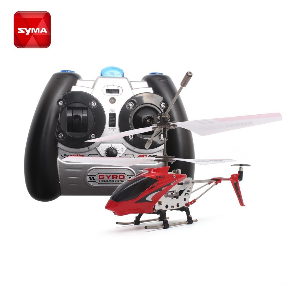 Original Syma S107G Gyro Metal Infrared Radio 3CH Mini Helicopter RC Remote Control Flying Drone for Toys Gift Present RTF