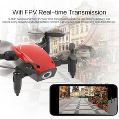 S9W WIFI FPV 0.3MP Camera Mini Foldable Drone RC Drones Atitude Hold Mode One-key Return 360 Degree Flip RC Quadcopter RTF