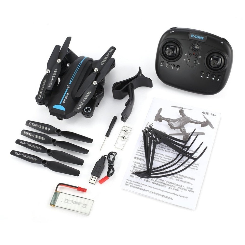 A6W Foldable RC Drone 2.4G Wi-Fi FPV 720P Wide-Angle HD Camera RTF Quadcopter With Gravity Sensor Altitude Hold Headless Mode