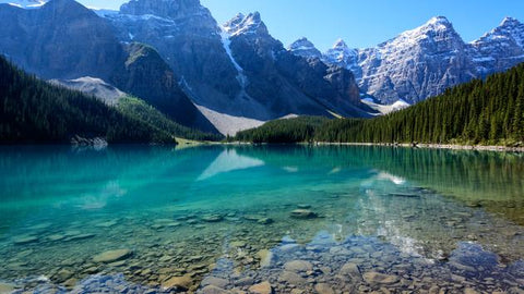 banff national park lake overview