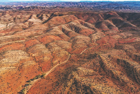 the ghan's train track among the gorges