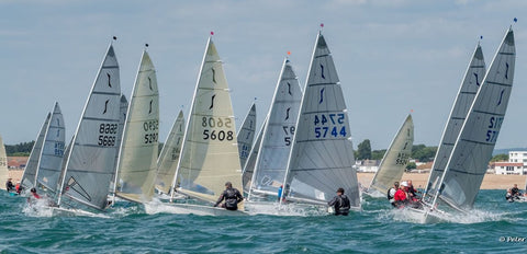 Dinghy sailing at hayling's island