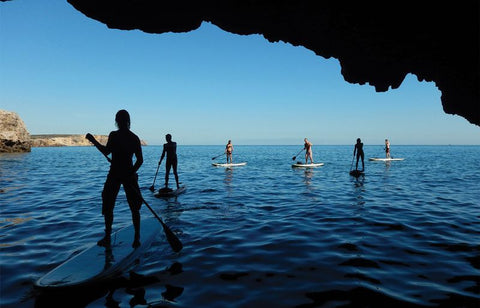 stand up paddle boarding Mediterranean