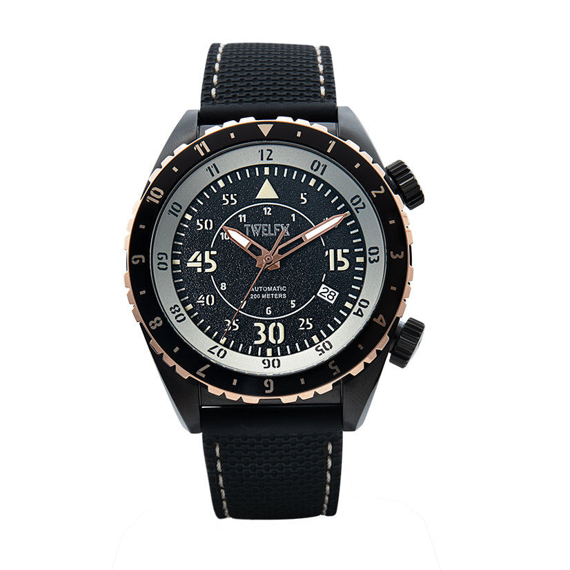 TWELF-X SKY 1914 AUTO FLYER - BLACK/ROSE GOLD Front