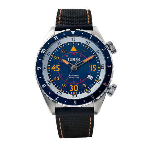 TWELF-X SKY 1914 AUTO FLYER - BLUE/STAINLESS STEEL Front
